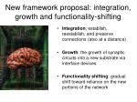 new framework proposal integration growth and functionality shifting