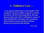1 palliative care