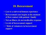 10 bereavement