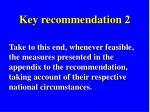 key recommendation 2