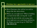 christians have opportunities to start over13