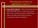 the forgiveness of god is an opportunity to start over19