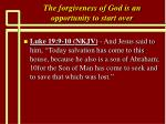 the forgiveness of god is an opportunity to start over24