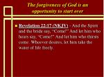 the forgiveness of god is an opportunity to start over7