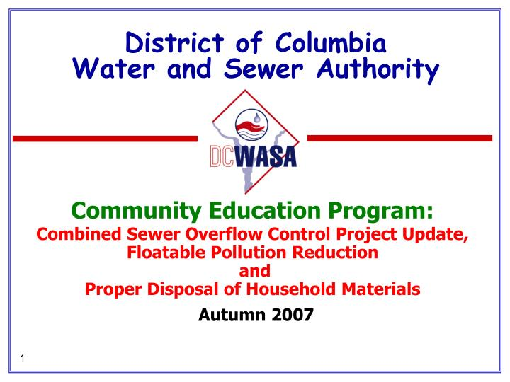 district of columbia water and sewer authority n.