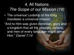 4 all nations the scope of our mission 19