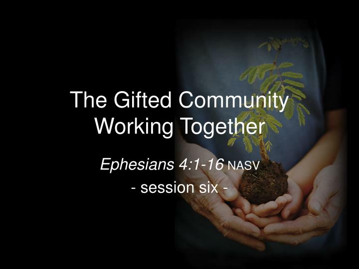 the gifted community working together n.