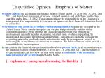 unqualified opinion emphasis of matter