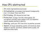 how cpu abstracted