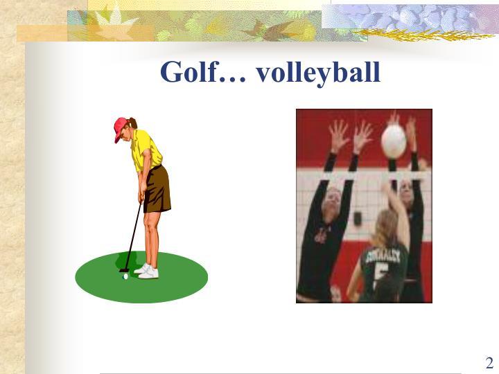 Golf volleyball
