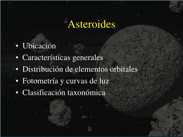 asteroides n.