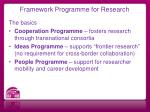 framework programme for research1