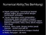 numerical ability tes berhitung