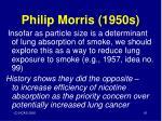 philip morris 1950s