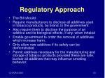 regulatory approach1