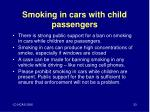 smoking in cars with child passengers