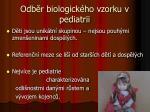 odb r biologick ho vzorku v pediatrii