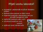 p ijet vzorku laborato
