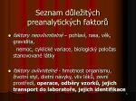 seznam d le it ch preanalytick ch faktor
