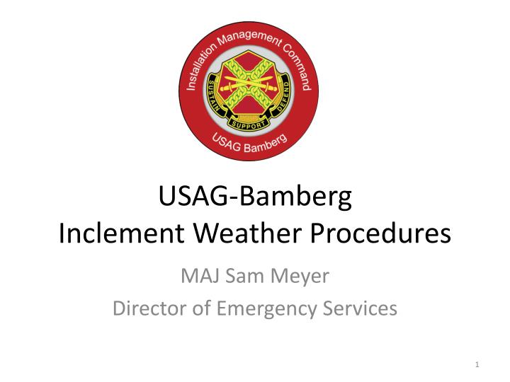 usag bamberg inclement weather procedures n.