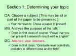 section 1 determining your topic3