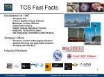 tcs fast facts