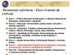 documento refer ncia eixos centrais da conae
