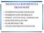 digitalna referen na dejavnost