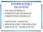 informacijska dejavnost