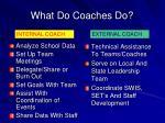 what do coaches do