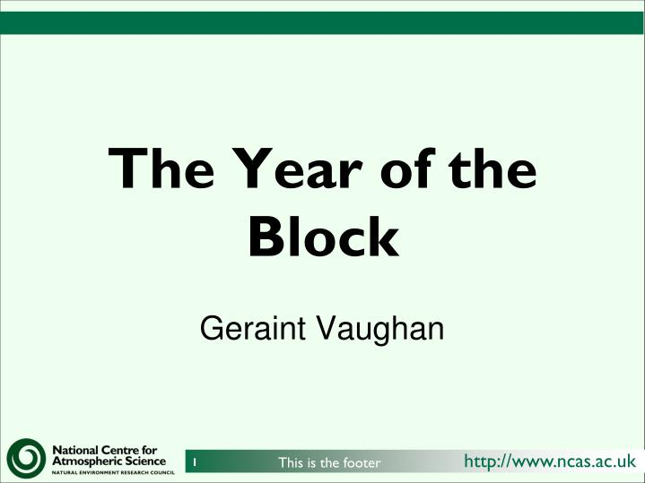 the year of the block n.