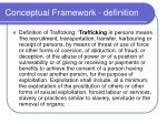 conceptual framework definition