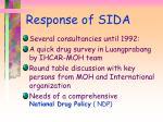 response of sida