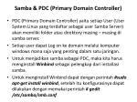 samba pdc primary domain controller