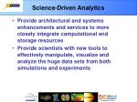 science driven analytics