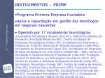 instrumentos prime