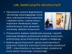 lab bada psycho akustycznych