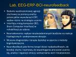 lab eeg erp bci neurofeedback