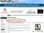 are you still advertising in directories