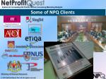 some of npq clients