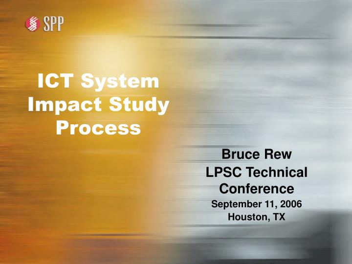 ict system impact study process n.