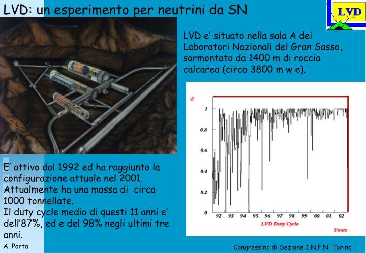 LVD: un esperimento per neutrini da SN