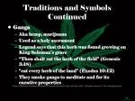 traditions and symbols continued