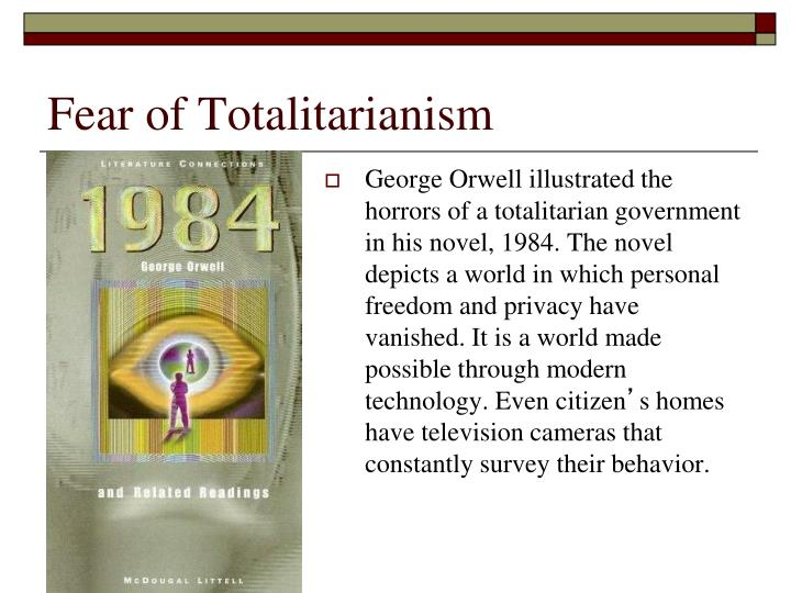 the depiction of the totalitarian society in george orwells 1984 If you want a picture of the future, imagine a boot stamping on a human face—for ever ― george orwell, 1984.