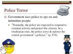 police terror