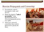 russian propaganda and censorship