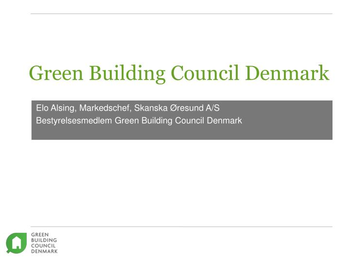 green building council denmark n.