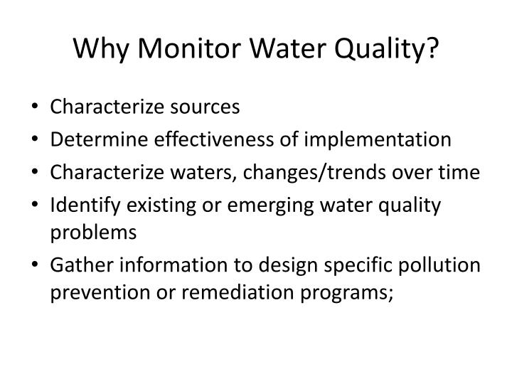 why monitor water quality n.