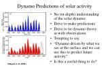 dynamo predictions of solar activity