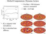 global computations dynamo action